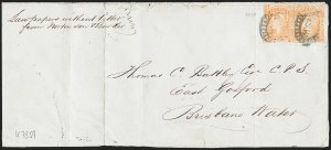 Sale Number 1220, Lot Number 22, Antigua thru New South Wales (Australian States)NEW SOUTH WALES, 1854-55, 1p Orange (23; SG 82), NEW SOUTH WALES, 1854-55, 1p Orange (23; SG 82)