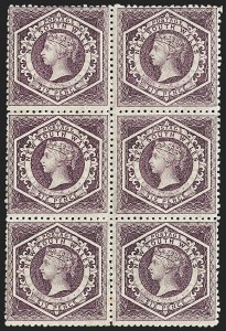 Sale Number 1220, Lot Number 25, Antigua thru New South Wales (Australian States)NEW SOUTH WALES, 1860-63, 6p Violet (40; SG 164), NEW SOUTH WALES, 1860-63, 6p Violet (40; SG 164)