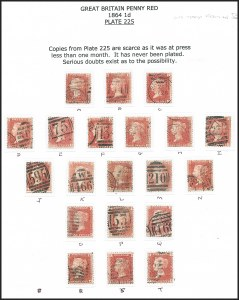 Sale Number 1220, Lot Number 3, Great BritainGREAT BRITAIN, 1864, 1p Rose Red, Plate 225 (33; SG 44), GREAT BRITAIN, 1864, 1p Rose Red, Plate 225 (33; SG 44)