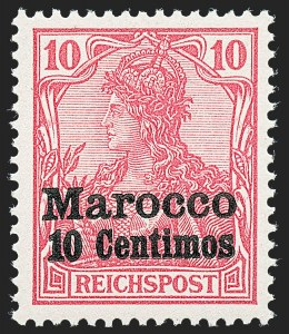 "Sale Number 1220, Lot Number 310, Germany and OfficesGERMANY, Offices in Morocco, 1903, 3c on 3pf to 1p on 80pf Unissued ""Thick"" Overprints (Michel 7II-15II), GERMANY, Offices in Morocco, 1903, 3c on 3pf to 1p on 80pf Unissued ""Thick"" Overprints (Michel 7II-15II)"