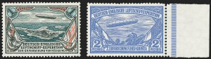 Sale Number 1220, Lot Number 314, German Area and Colonies thru HungaryGERMAN NEW GUINEA, 1913, 2pf and 1m Unissued New Guinea Expedition Zeppelins (Sieger I-II), GERMAN NEW GUINEA, 1913, 2pf and 1m Unissued New Guinea Expedition Zeppelins (Sieger I-II)