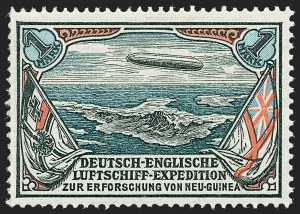 Sale Number 1220, Lot Number 315, German Area and Colonies thru HungaryGERMAN NEW GUINEA, 1913, 1m Unissued New Guinea Expedition Zeppelin (Sieger II), GERMAN NEW GUINEA, 1913, 1m Unissued New Guinea Expedition Zeppelin (Sieger II)