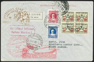 Sale Number 1220, Lot Number 408, Vatican City Flight and Zeppelin Covers  - from the Rev. Mullowney EstateVATICAN CITY, 1932 Third South America Flight (Sieger 150B), VATICAN CITY, 1932 Third South America Flight (Sieger 150B)