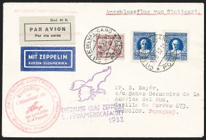 Sale Number 1220, Lot Number 411, Vatican City Flight and Zeppelin Covers  - from the Rev. Mullowney EstateVATICAN CITY, 1932, Fifth South American Flight (Sieger 171C), VATICAN CITY, 1932, Fifth South American Flight (Sieger 171C)