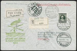 Sale Number 1220, Lot Number 412, Vatican City Flight and Zeppelin Covers  - from the Rev. Mullowney EstateVATICAN CITY, 1932, Sixth South American Flight (Sieger 177Aa), VATICAN CITY, 1932, Sixth South American Flight (Sieger 177Aa)