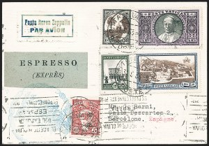 Sale Number 1220, Lot Number 417, Vatican City Flight and Zeppelin Covers  - from the Rev. Mullowney EstateVATICAN CITY, 1933, Prepared for Italian Flight (Sieger 208 footnote), VATICAN CITY, 1933, Prepared for Italian Flight (Sieger 208 footnote)
