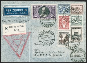 Sale Number 1220, Lot Number 428, Vatican City Flight and Zeppelin Covers  - from the Rev. Mullowney EstateVATICAN CITY, 1933, Chicago Flight (Sieger 238), VATICAN CITY, 1933, Chicago Flight (Sieger 238)