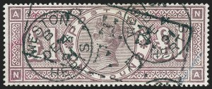 Sale Number 1220, Lot Number 9, Great BritainGREAT BRITAIN, 1884, £1 Brown Violet (110; SG 185), GREAT BRITAIN, 1884, £1 Brown Violet (110; SG 185)