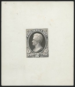 Sale Number 1221, Lot Number 1056, Essays and Proofs, Back-of-Book2c Brown Black, Post Office, Large Die Essay on White Ivory Paper (O48-E1c), 2c Brown Black, Post Office, Large Die Essay on White Ivory Paper (O48-E1c)