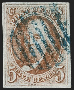 Sale Number 1221, Lot Number 1083, 1847 Issue and 1875 Reproduction (Scott 1-4)5c Brown Orange (1d), 5c Brown Orange (1d)