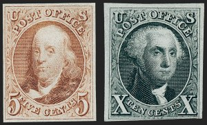 Sale Number 1221, Lot Number 1090, 1847 Issue and 1875 Reproduction (Scott 1-4)5c Red Brown, 10c Black Reproductions (3, 4), 5c Red Brown, 10c Black Reproductions (3, 4)