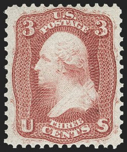 Sale Number 1221, Lot Number 1146, 1861-66 Issue (Scott 56-78)3c Brown Rose, First Design (56), 3c Brown Rose, First Design (56)