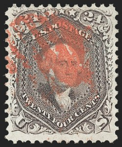 Sale Number 1221, Lot Number 1159, 1861-66 Issue (Scott 56-78)24c Red Lilac (70), 24c Red Lilac (70)