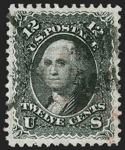 Sale Number 1221, Lot Number 1186, 1867-68 Grilled Issue (Scott 79-101)12c Black, E. Grill (90), 12c Black, E. Grill (90)