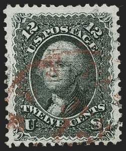 Sale Number 1221, Lot Number 1187, 1867-68 Grilled Issue (Scott 79-101)12c Black, E. Grill (90), 12c Black, E. Grill (90)