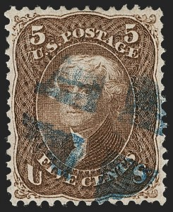 Sale Number 1221, Lot Number 1193, 1867-68 Grilled Issue (Scott 79-101)5c Brown, F. Grill (95), 5c Brown, F. Grill (95)