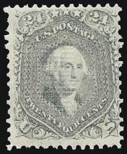 Sale Number 1221, Lot Number 1197, 1867-68 Grilled Issue (Scott 79-101)24c Gray Lilac, F. Grill (99), 24c Gray Lilac, F. Grill (99)