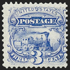 Sale Number 1221, Lot Number 1269, 1875 Re-Issue of 1869 Pictorial Issue (Scott 123-133a)3c Blue, Re-Issue (125), 3c Blue, Re-Issue (125)