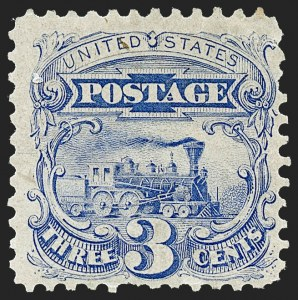 Sale Number 1221, Lot Number 1270, 1875 Re-Issue of 1869 Pictorial Issue (Scott 123-133a)3c Blue, Re-Issue (125), 3c Blue, Re-Issue (125)