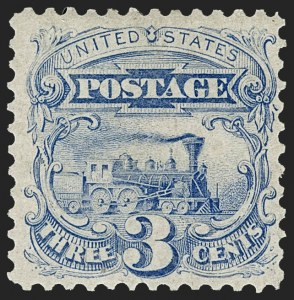 Sale Number 1221, Lot Number 1271, 1875 Re-Issue of 1869 Pictorial Issue (Scott 123-133a)3c Blue, Re-Issue (125), 3c Blue, Re-Issue (125)