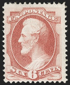Sale Number 1221, Lot Number 1290, 1870-71 National Bank Note Co. Grilled Issue (Scott 134-144)6c Carmine, H. Grill (137), 6c Carmine, H. Grill (137)