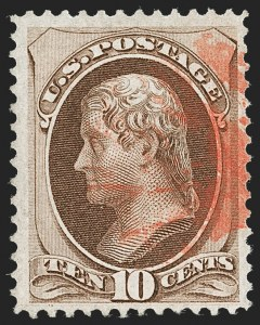 Sale Number 1221, Lot Number 1294, 1870-71 National Bank Note Co. Grilled Issue (Scott 134-144)10c Brown, H. Grill (139), 10c Brown, H. Grill (139)
