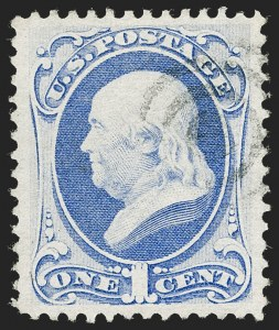 Sale Number 1221, Lot Number 1302, 1870-71 National Bank Note Co. Grilled Issue (Scott 134-144)1c Ultramarine, I. Grill (134A), 1c Ultramarine, I. Grill (134A)