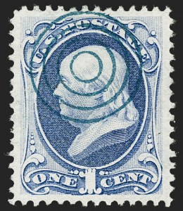 Sale Number 1221, Lot Number 1305, 1870-73 National & Continental Issues (Scott 145-166)1c Ultramarine (145), 1c Ultramarine (145)