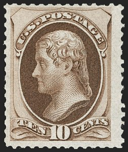 Sale Number 1221, Lot Number 1309, 1870-73 National & Continental Issues (Scott 145-166)10c Brown (150). Mint N.H, 10c Brown (150). Mint N.H