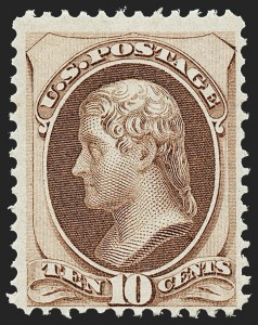 Sale Number 1221, Lot Number 1310, 1870-73 National & Continental Issues (Scott 145-166)10c Brown (150), 10c Brown (150)