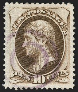 Sale Number 1221, Lot Number 1315, 1870-73 National & Continental Issues (Scott 145-166)10c Brown (161), 10c Brown (161)