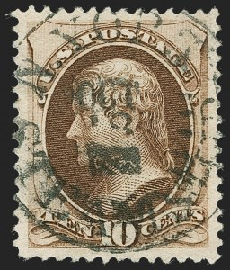 Sale Number 1221, Lot Number 1325, 1875-79 Bank Note Co. Issues (Scott 178-190)10c Brown, With Secret Mark (188), 10c Brown, With Secret Mark (188)