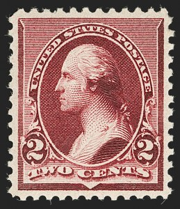 Sale Number 1221, Lot Number 1341, 1890-93 Issue (Scott 219-229)2c Lake (219D), 2c Lake (219D)