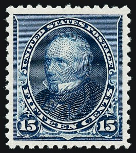 Sale Number 1221, Lot Number 1349, 1890-93 Issue (Scott 219-229)15c Indigo (227), 15c Indigo (227)