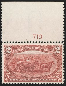 Sale Number 1221, Lot Number 1408, 1898 Trans-Mississippi Issue (Scott 285-293)2c Trans-Mississippi (286), 2c Trans-Mississippi (286)