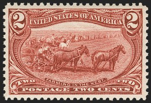Sale Number 1221, Lot Number 1409, 1898 Trans-Mississippi Issue (Scott 285-293)2c Trans-Mississippi (286), 2c Trans-Mississippi (286)