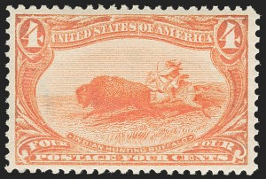 Sale Number 1221, Lot Number 1413, 1898 Trans-Mississippi Issue (Scott 285-293)4c Trans-Mississippi (287), 4c Trans-Mississippi (287)
