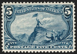 Sale Number 1221, Lot Number 1414, 1898 Trans-Mississippi Issue (Scott 285-293)5c Trans-Mississippi (288), 5c Trans-Mississippi (288)