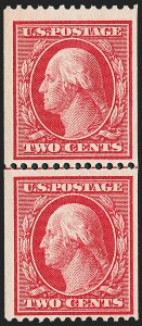 Sale Number 1221, Lot Number 1460, 1908-12 Washington-Franklin and Commemorative Issues (Scott 331-396)2c Carmine, Coil (349), 2c Carmine, Coil (349)