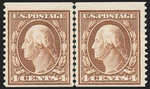 Sale Number 1221, Lot Number 1467, 1908-12 Washington-Franklin and Commemorative Issues (Scott 331-396)4c Orange Brown, Coil (354), 4c Orange Brown, Coil (354)