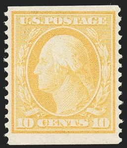 Sale Number 1221, Lot Number 1469, 1908-12 Washington-Franklin and Commemorative Issues (Scott 331-396)10c Yellow, Coil (356), 10c Yellow, Coil (356)