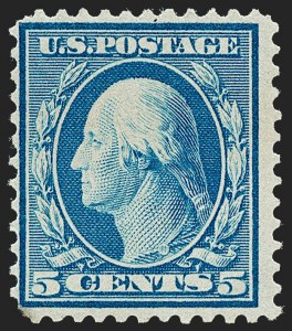 Sale Number 1221, Lot Number 1471, 1908-12 Washington-Franklin and Commemorative Issues (Scott 331-396)5c Blue, Bluish (361), 5c Blue, Bluish (361)