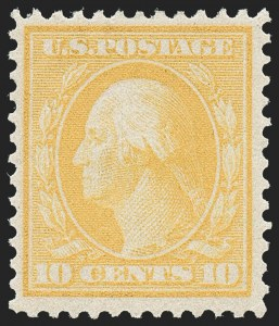 Sale Number 1221, Lot Number 1475, 1908-12 Washington-Franklin and Commemorative Issues (Scott 331-396)10c Yellow, Bluish (364), 10c Yellow, Bluish (364)