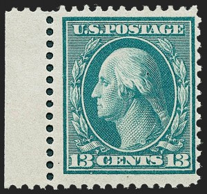 Sale Number 1221, Lot Number 1476, 1908-12 Washington-Franklin and Commemorative Issues (Scott 331-396)13c Bluish Green, Bluish (365), 13c Bluish Green, Bluish (365)