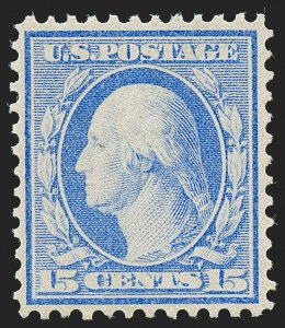Sale Number 1221, Lot Number 1478, 1908-12 Washington-Franklin and Commemorative Issues (Scott 331-396)15c Pale Ultramarine, Bluish (366), 15c Pale Ultramarine, Bluish (366)
