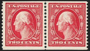 Sale Number 1221, Lot Number 1483, 1908-12 Washington-Franklin and Commemorative Issues (Scott 331-396)2c Carmine, Coil (388), 2c Carmine, Coil (388)