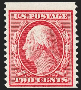 Sale Number 1221, Lot Number 1484, 1908-12 Washington-Franklin and Commemorative Issues (Scott 331-396)2c Carmine, Coil (388), 2c Carmine, Coil (388)