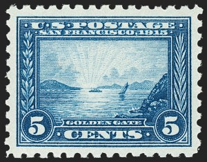 Sale Number 1221, Lot Number 1488, 1913-15 Panama-Pacific Issue (Scott 397-404)5c Panama-Pacific, Perf 10 (403), 5c Panama-Pacific, Perf 10 (403)
