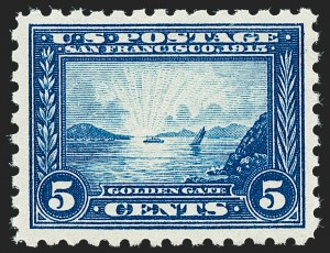 Sale Number 1221, Lot Number 1489, 1913-15 Panama-Pacific Issue (Scott 397-404)5c Panama-Pacific, Perf 10 (403), 5c Panama-Pacific, Perf 10 (403)