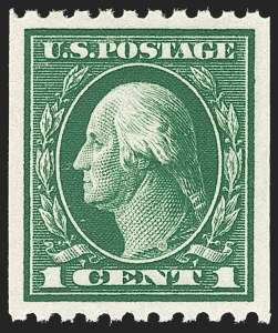 Sale Number 1221, Lot Number 1493, 1912-20 Washington-Franklin Issues (Scott 405-544)1c Green, Coil (441), 1c Green, Coil (441)
